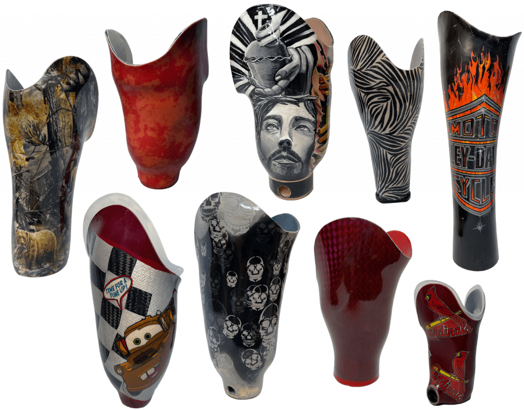 Prosthetic products collage